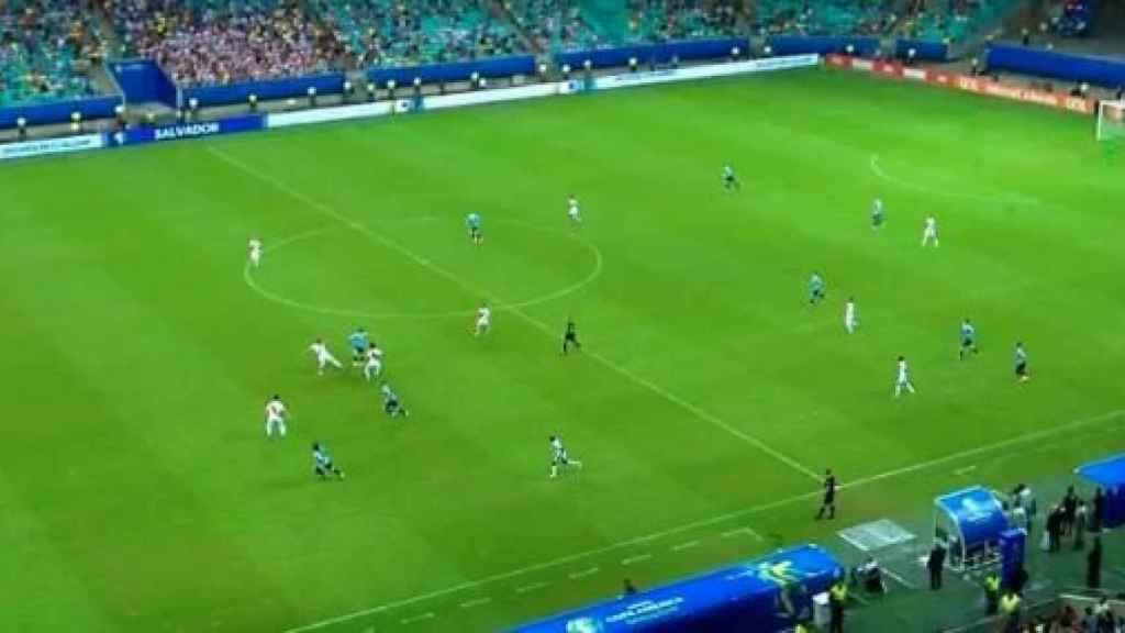 El segundo gol anulado a Uruguay