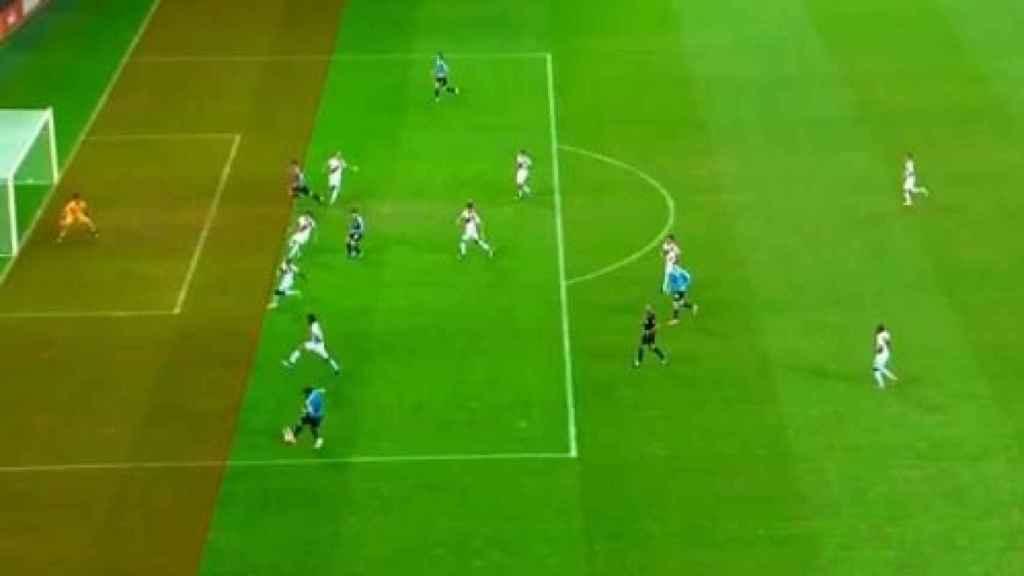 El tercer gol anulado a Uruguay