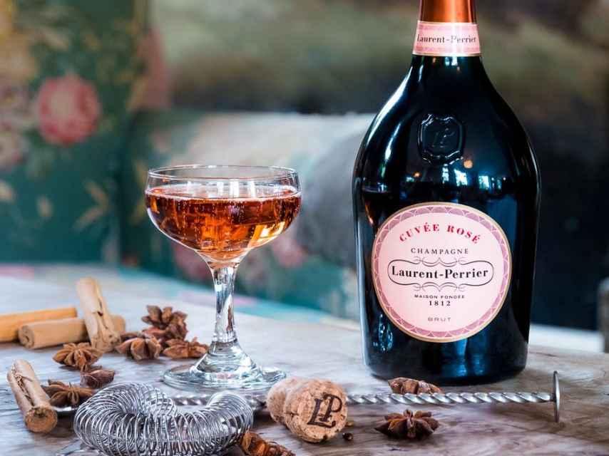 Cuvée Rosé de Laurent-Perrier, el champán rosado más famoso del mundo.