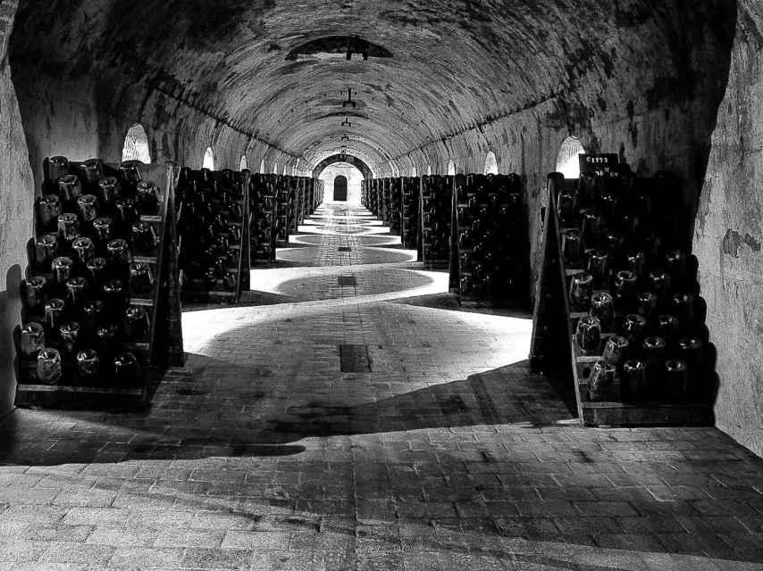 La caveau, el dormitorio de vinos de Laurent-Perrier en la Champaña.