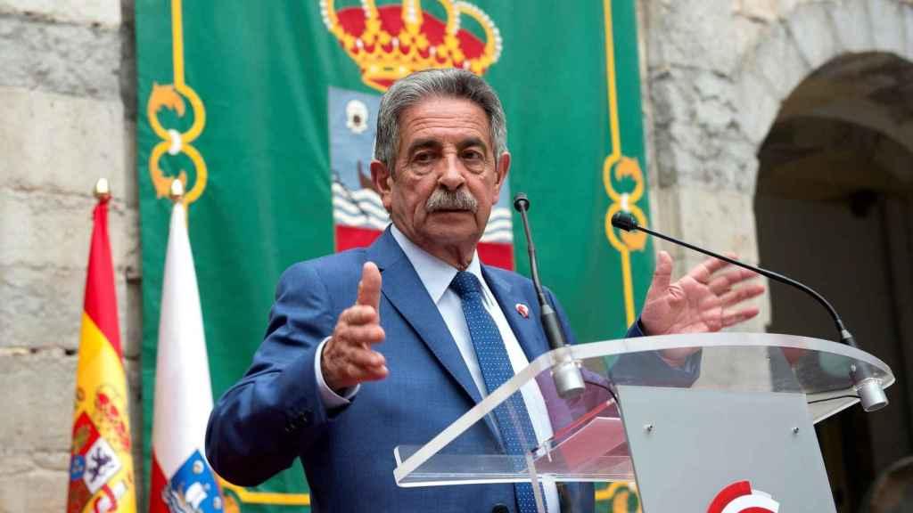 Miguel Ángel Revilla, durante su última toma de posesión.