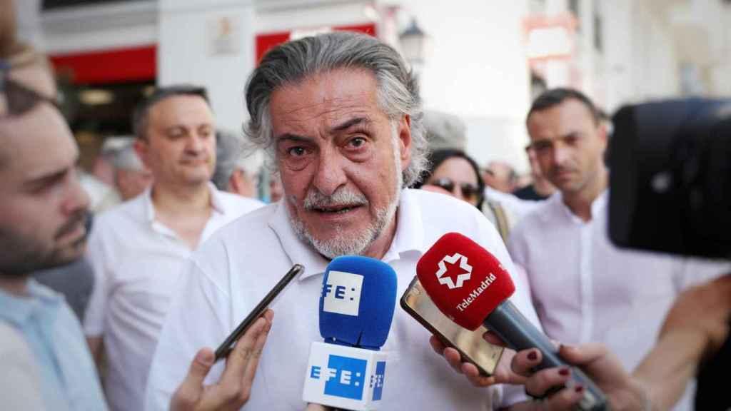 Pepu ´Hernández (PSOE) en la marcha a favor de Madrid Central.