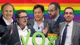 De izquierda a derecha y de arriba abajo: Jesús García-Conde, Fernando Paz, Francisco Serrano, Juan José Liarte y Pedro Cuadrado.
