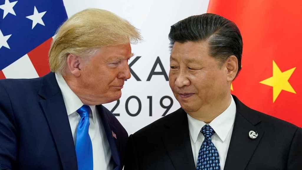 Trump junto a Xi Jinping en la cumbre del G-20