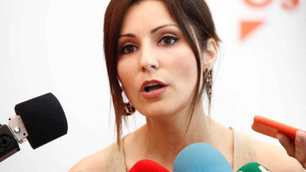 La portavoz de Cs en el Parlament, Lorena Roldán, este domingo.