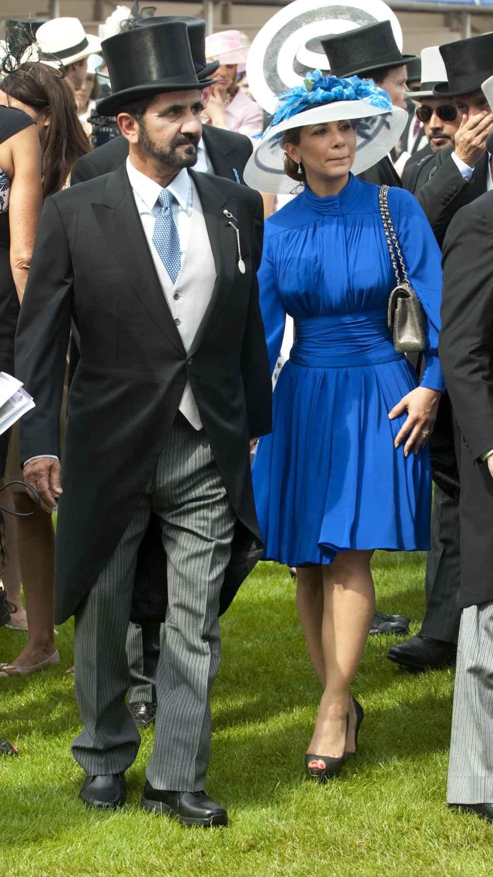 La princesa Haya de Jordania y su marido, Mohamed bin Rashid Al Maktum, en Ascot.