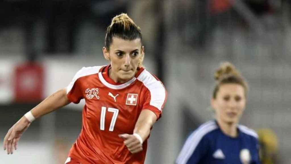 Florijana Ismaili, durante un partido con su selección. Foto: Federación Suiza de Fútbol