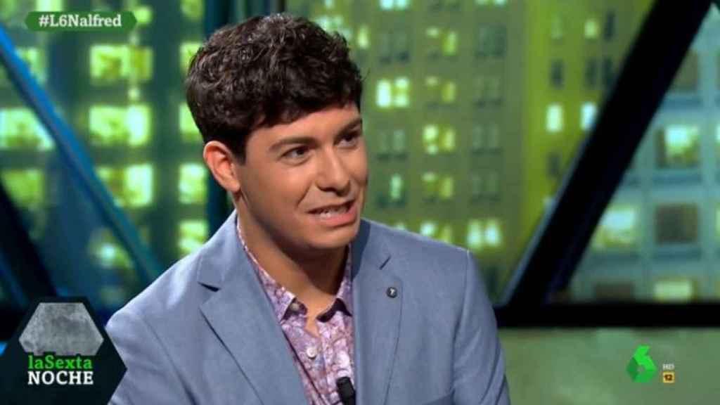 Alfred García en el programa 'La Sexta Noche'.