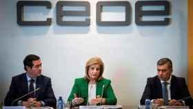 Antonio Garamendi, presidente de CEOE junto a la exministra Fátima Báñez en una imagen de archivo.