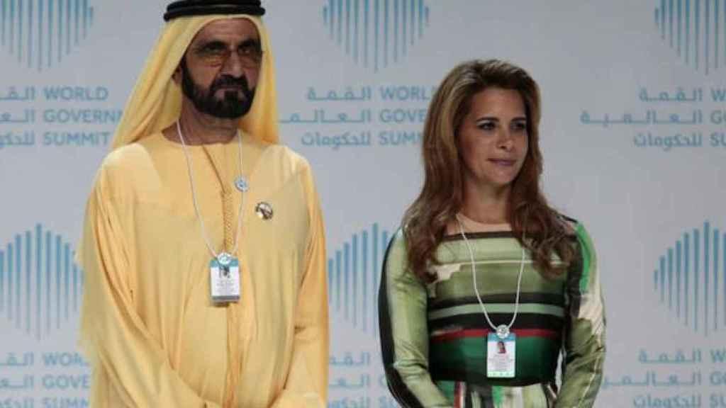 Mohammed Bin Rashid junto a Haya bint Al Hussein.