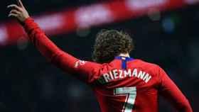 Griezmann con el Atlético. Foto: Twitter (@AntoGriezmann)