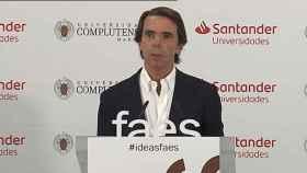 José María Aznar, durante una conferencia en los cursos de verano de FAES