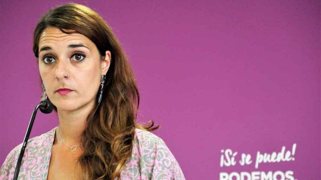 Noelia Vera, portavoz del Consejo de Coordinación de Podemos.