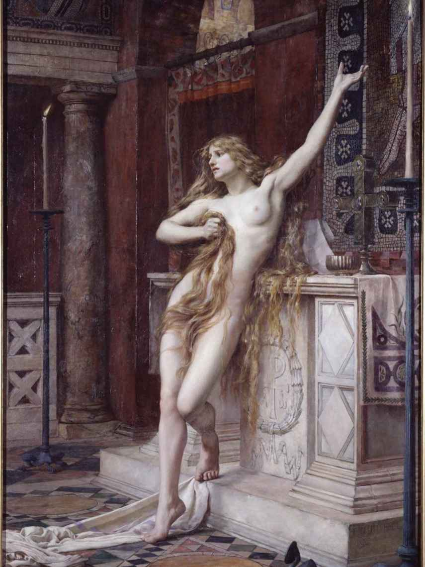 Hipatia, pintada por Charles William.