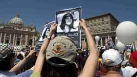 Manifestación en el Vaticano para pedir justicia por la joven desaparecida.