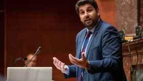 Fernando López Miras, candidato del PP a la Presidencia de la Región de Murcia.