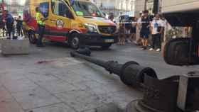 Los hechos han ocurrido a primera hora de la mañana. Foto: Emergencias Madrid.