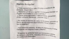 La carta fue publicada por una joven en sus redes sociales.
