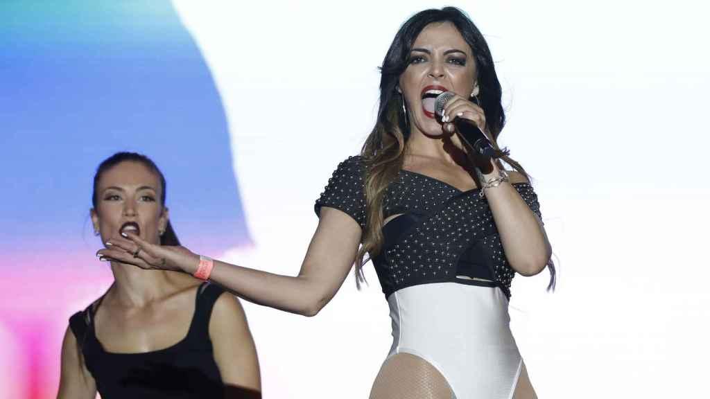 La cantante Merche actuando en el Orgullo Gay de Madrid 2018.