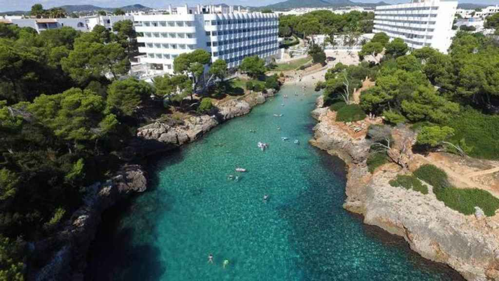 Playa Cala de Egos en la costa suroriental de Mallorca