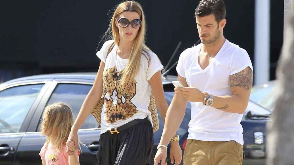 Laura Sánchez y Aitor Ocio durante su relación.