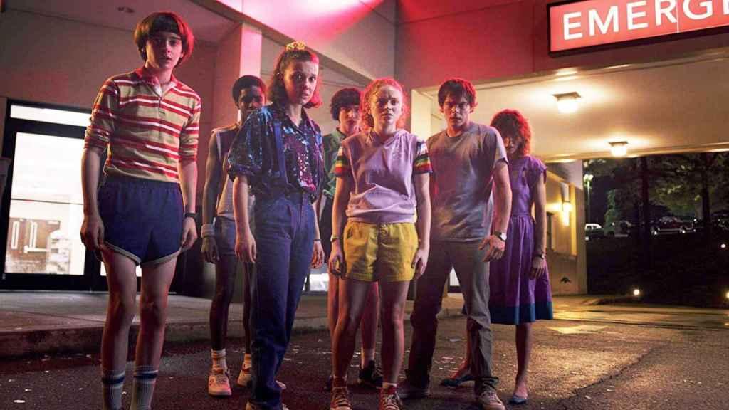 Los protagonistas de 'Stranger Things'.