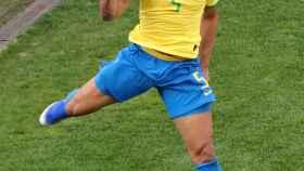 Casemiro, en un partido con la selección de Brasil durante la Copa América 2019