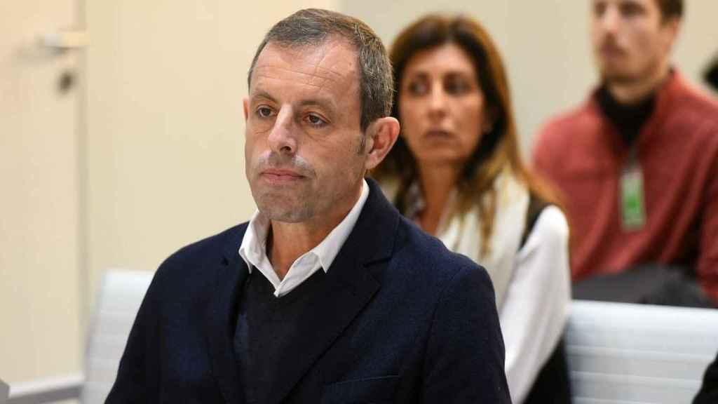 El expresidente del Fútbol Club Barcelona, Sandro Rosell, en la Audiencia Nacional.