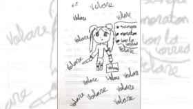 Dibujo de la niña de 11 años.