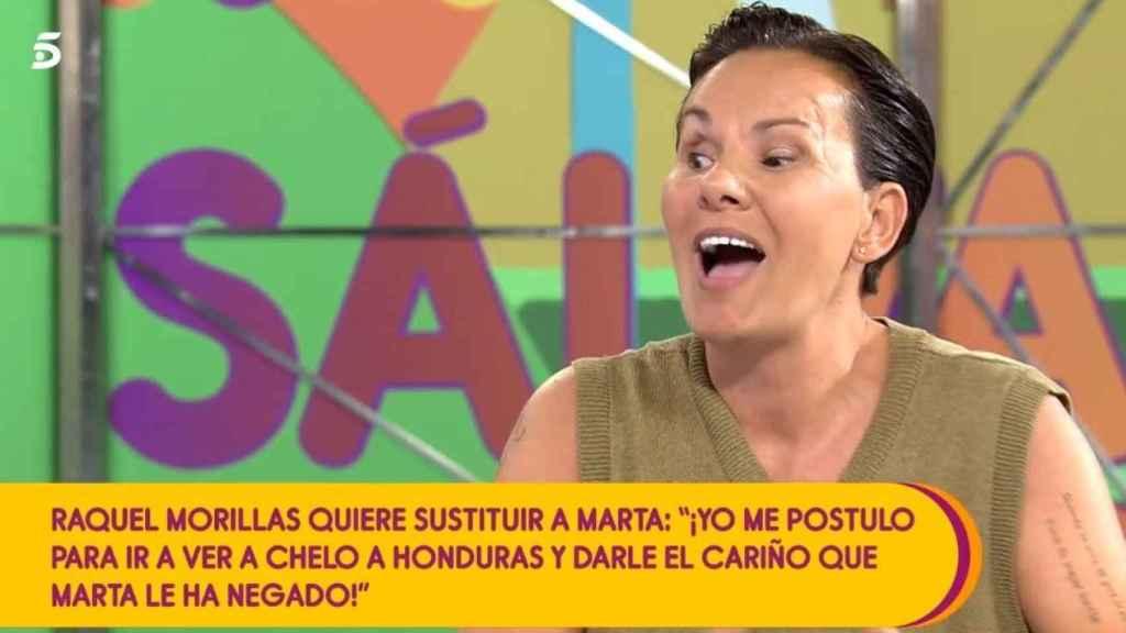 Raquel Morillas en su última intervención en 'Sálvame Naranja'.