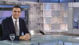 Pedro Sánchez en el plató de Telecinco