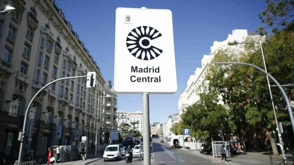 Señal de Madrid Central.