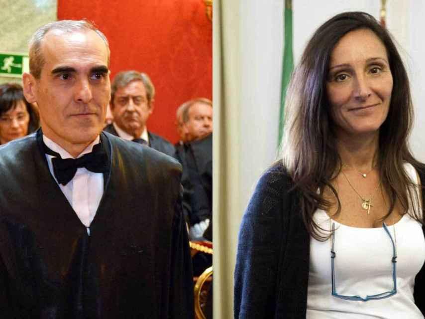 El fiscal Luzón y la magistrada Núñez Bolaños./