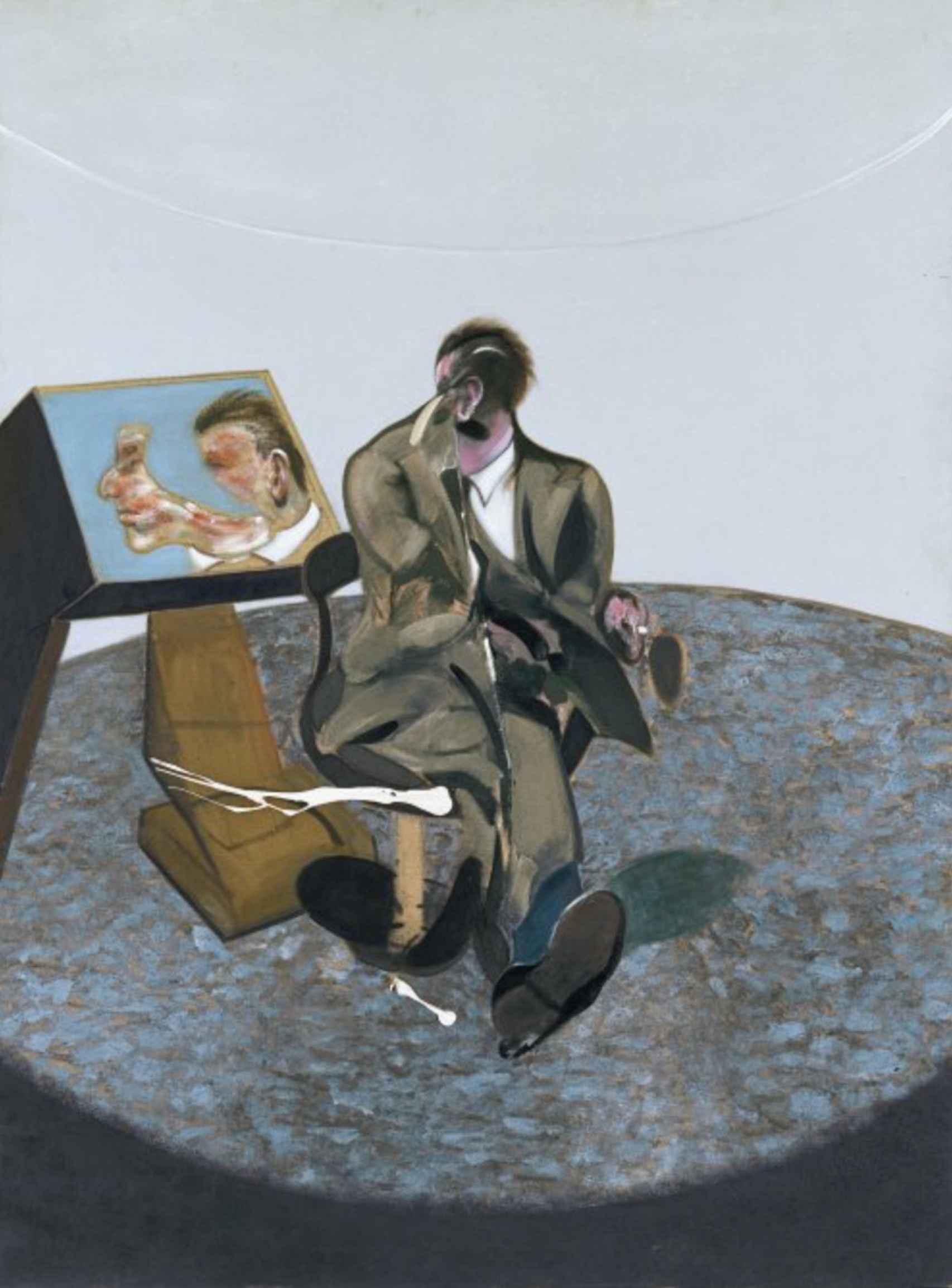 Retrato de George Dyer en un espejo (1968).