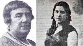 Aurora Rodríguez y su hija Hildegart.