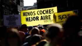 Manifestaciones en Madrid Central pidiendo el retorno de las multas.
