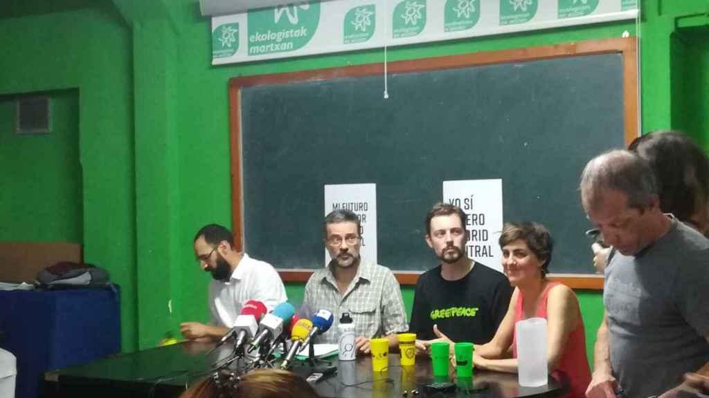 Rueda de prensa de Greenpeace y Ecologistas en Acción.