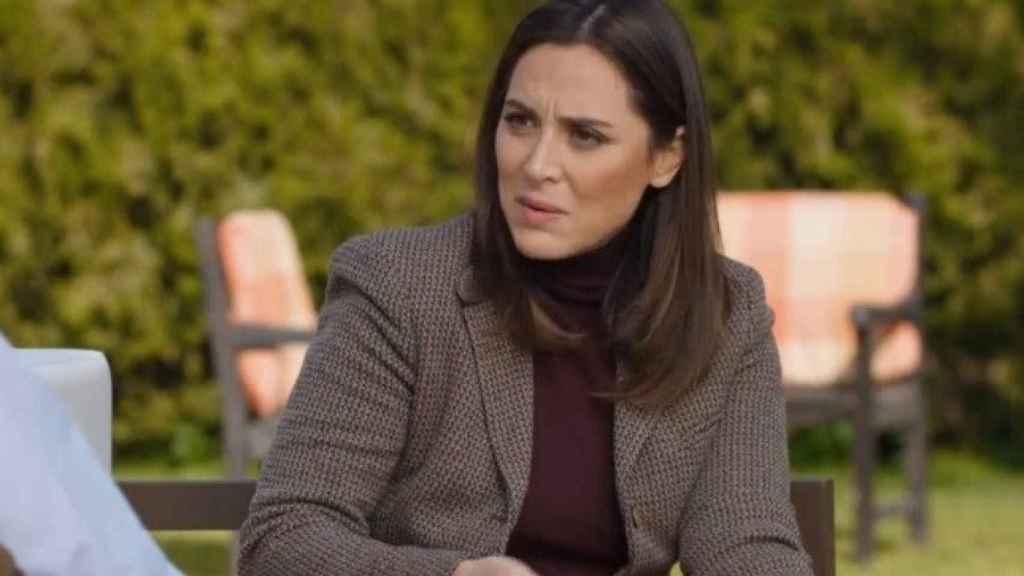Tamara Falcó durante su entrevista con Bertín en 'Mi casa es la tuya'.