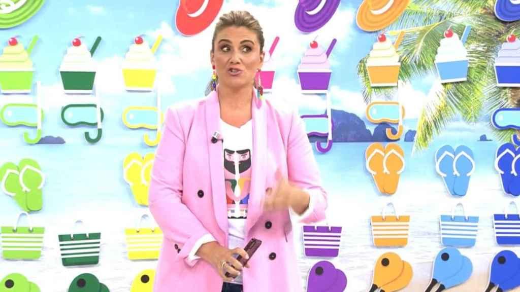 Carlota Corredera durante el programa de 'Sálvame'.