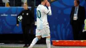 Salida de Messi del campo en el Argentina - Chile de la Copa América 2019