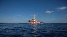 El barco de Open Arms en el mar Mediterráneo.