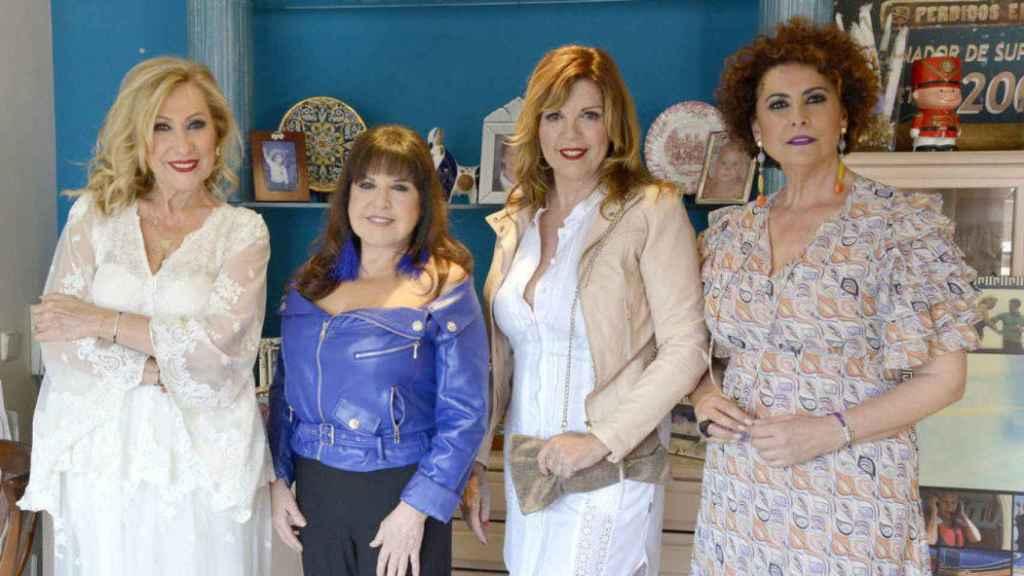 Rosa Benito, Loles León, Belinda Washington e Irma Soriano en imagen promocional.