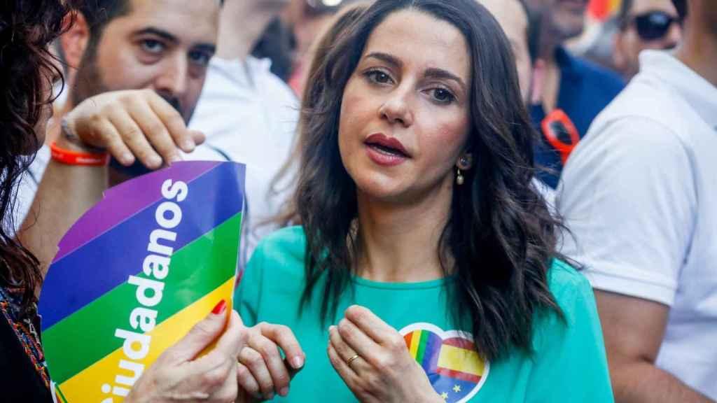 Arrimadas durante la celebración del Orgullo LGTB en Madrid