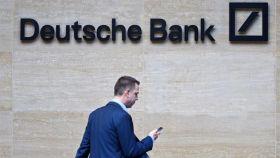 Un ejecutivo en Deutsche Bank.