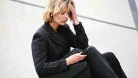 Una mujer estresada.