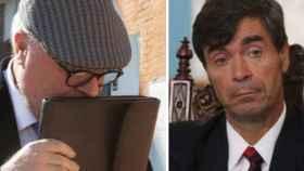 El comisario investigado, José Manuel Villarejo y el empresario naviero Ángel Pérez-Maura.