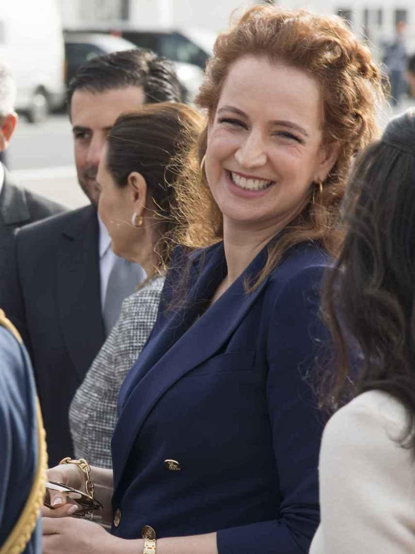 Lalla Salma durante la visita de Estado de Macron en Marruecos en 2017.