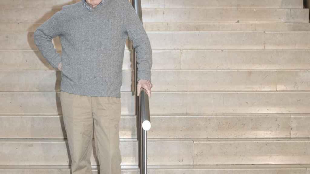 Woody Allen en el 'photocall' de su nueva película.