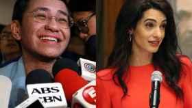 Maria Ressa, periodista filipina y Amal Clooney, abogada