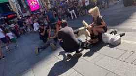 Momento de la detención en Times Square